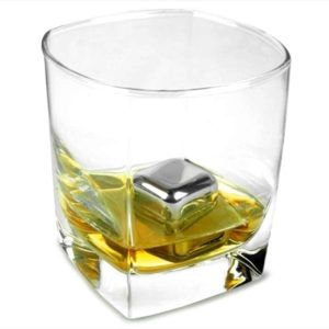 Set of 8 Stainless Steel Whiskey Stones Rock with Tongs