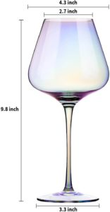 Red Wine Glasses - Lead Free Crystal Glass, 23 oz. Large Bowl