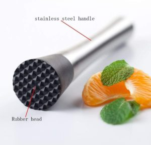 8 inch Stainless Steel Cocktail Muddlers Professional