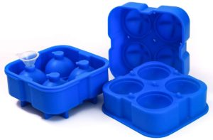 2 PACK Sphere Ice Cube Mold, Silicone Whiskey Ice Ball Mold