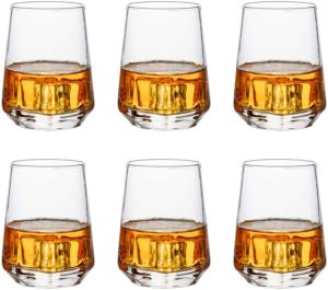 Heavy Whisky Glasses Set of 6